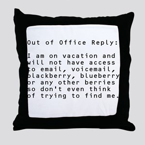Vacation Message Throw Pillow