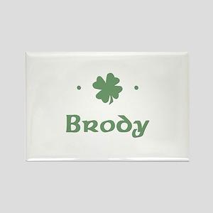 """Shamrock - Brody"" Rectangle Magnet"