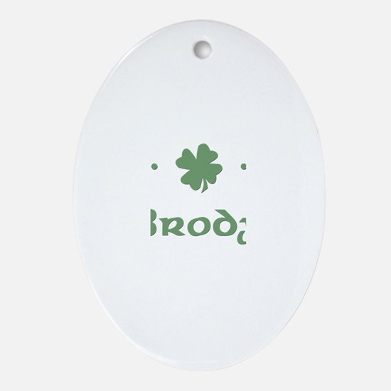 """Shamrock - Brody"" Oval Ornament"