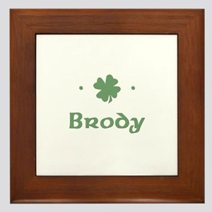 """Shamrock - Brody"" Framed Tile"