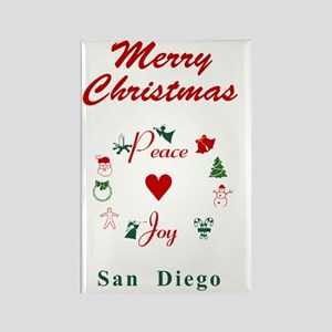 SanDiego_5x7_Christmas Stocking_P Rectangle Magnet