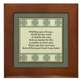 Irish blessings Framed Tiles