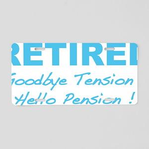 retiredPension5 Aluminum License Plate