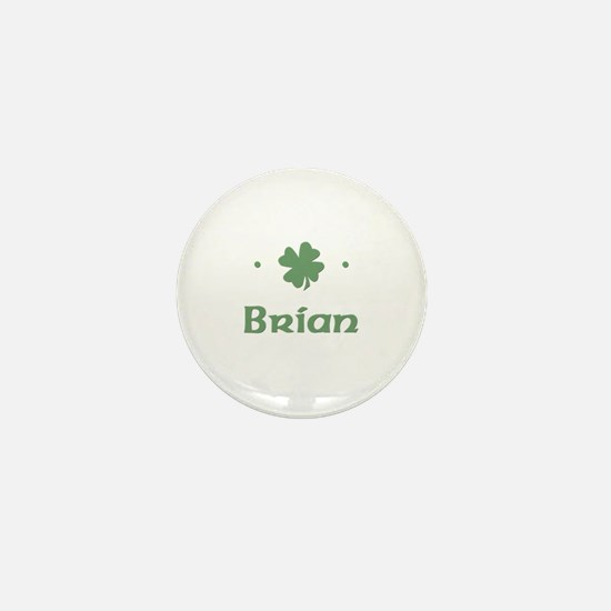 """Shamrock - Brian"" Mini Button"