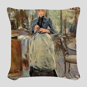 Berthe Morisot Woven Throw Pillow
