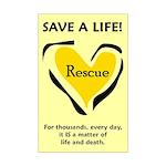 Save A Life - Rescue A Pet Mini Poster Print