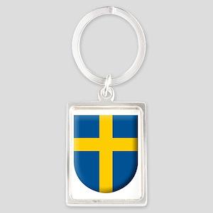 flag-of-sweden-kommunvapen Portrait Keychain