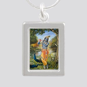 greeting_card_ta0029 Silver Portrait Necklace