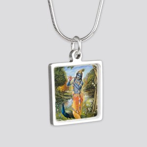 greeting_card_ta0029 Silver Square Necklace
