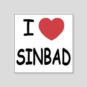 "SINBAD Square Sticker 3"" x 3"""