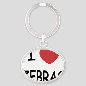 ZEBRAS Oval Keychain