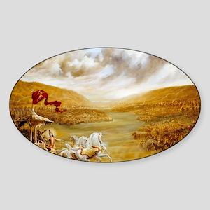 greeting_card_ta0414 Sticker (Oval)