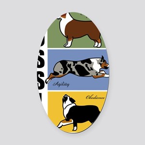 Aussies-do-it-all Oval Car Magnet