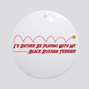 Terrier Play Ornament (Round)