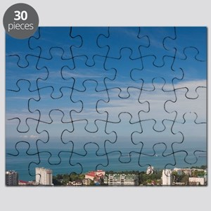 Elevated city view from the Arboretum Parki Puzzle