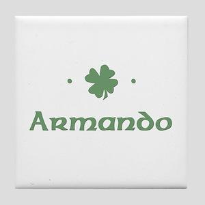 """Shamrock - Armando"" Tile Coaster"