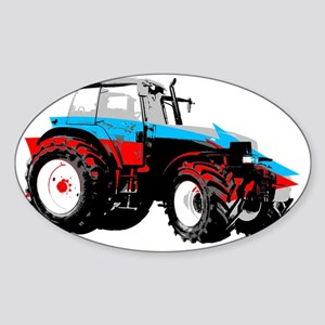 Tractor Style Sticker (Oval)