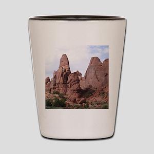 Red Rocks Utah 2 Shot Glass