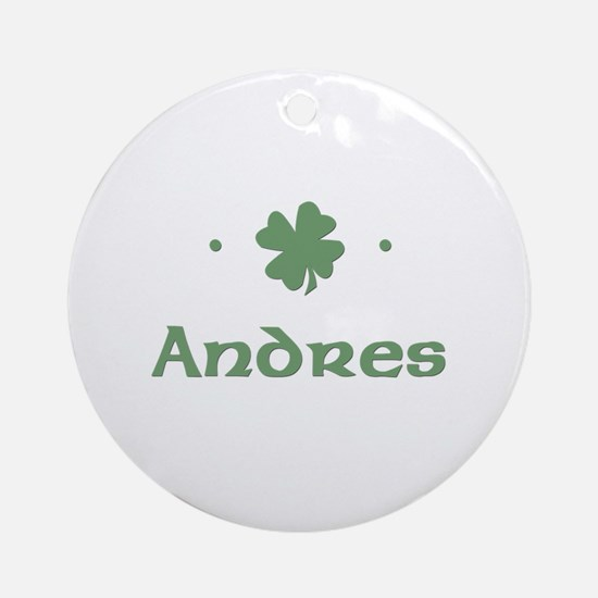 """Shamrock - Andres"" Ornament (Round)"