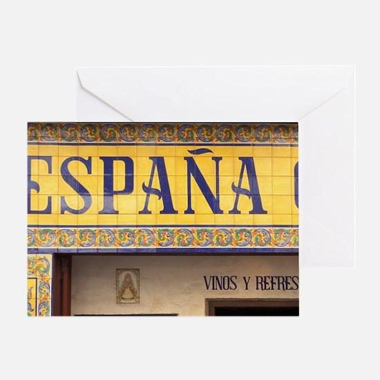 Spain, Madrid, Cerveceria Espana Can Greeting Card
