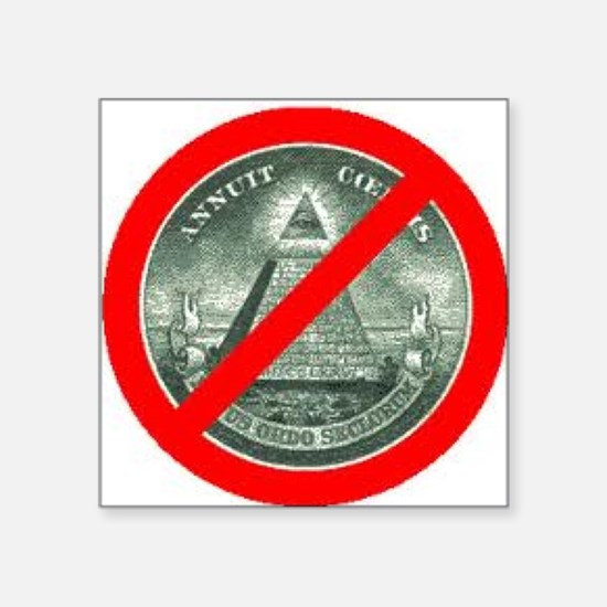 """END THE NWO Square Sticker 3"""" x 3"""""""