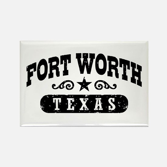 Fort Worth Texas Rectangle Magnet