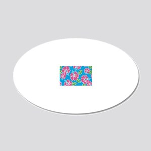 tropical_1_miniwallet 20x12 Oval Wall Decal