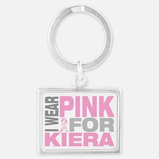 I-wear-pink-for-KIERA Landscape Keychain