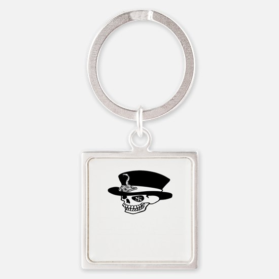 greedy one percent dead w Square Keychain