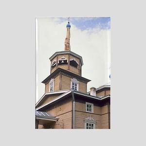 Famous St. Nicholas Wooden Church Rectangle Magnet