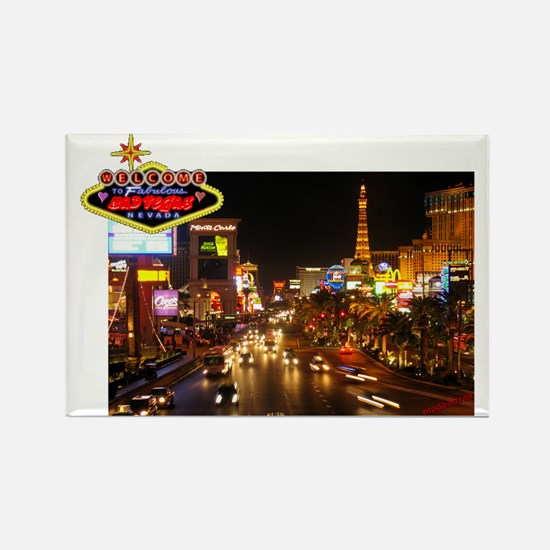 WMV Mad Vegas Strip 6000 Rectangle Magnet