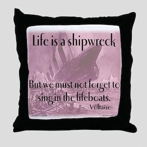 shipwreck2 Throw Pillow