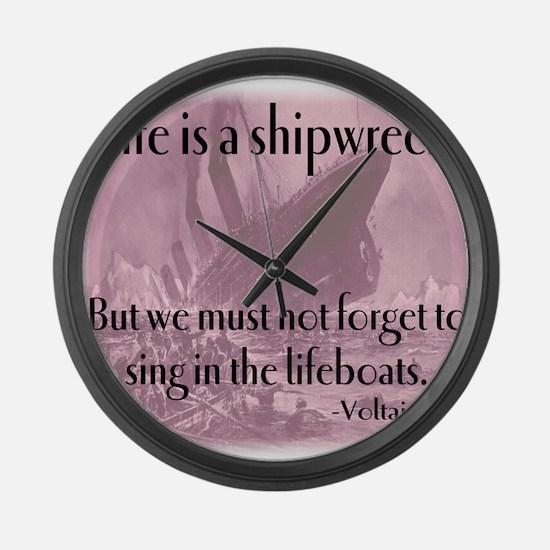 shipwreck2 Large Wall Clock