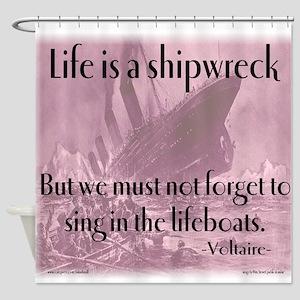 shipwreck2 Shower Curtain