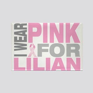I-wear-pink-for-LILIAN Rectangle Magnet