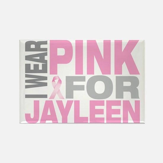 I-wear-pink-for-JAYLEEN Rectangle Magnet