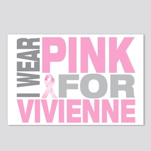 I-wear-pink-for-VIVIENNE Postcards (Package of 8)