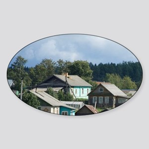 Goritzy. Typical countryside view.  Sticker (Oval)