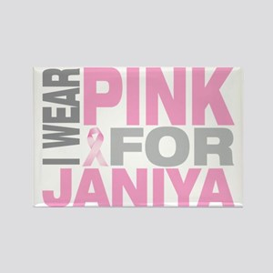 I-wear-pink-for-JANIYA Rectangle Magnet