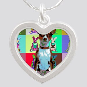 Basenji Silver Heart Necklace