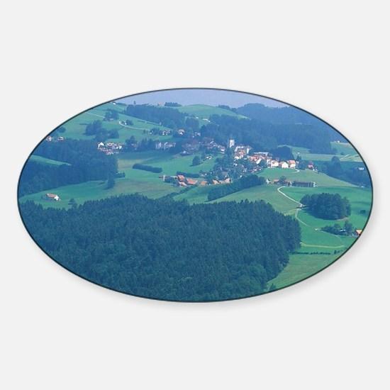The village of Speicher, Switzerlan Sticker (Oval)