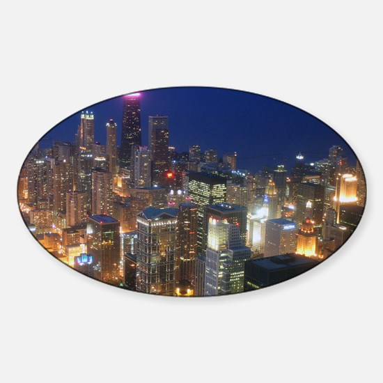 Sears Tower View Sticker (Oval)