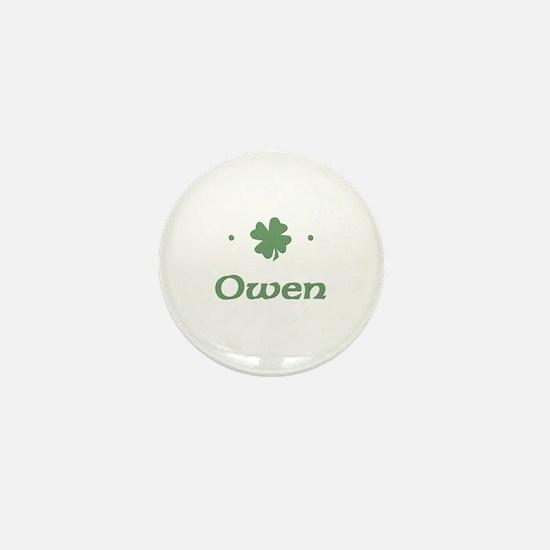 """Shamrock - Owen"" Mini Button"
