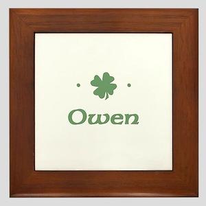 """""""Shamrock - Owen"""" Framed Tile"""