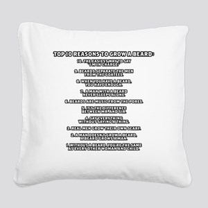 TSHIRTS_why_i_grow_white Square Canvas Pillow