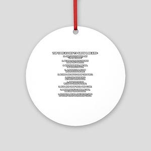 TSHIRTS_why_i_grow_white Round Ornament