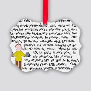 Geologist 1 story art Picture Ornament