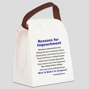 reason4impeach Canvas Lunch Bag
