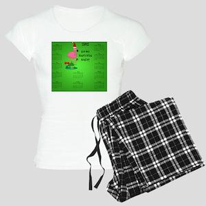 Dark_mousepad_christmas_fla Women's Light Pajamas
