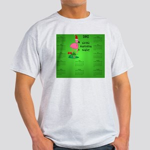 Dark_mousepad_christmas_flamingo_201 Light T-Shirt